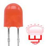 ال ای دی اوال قرمز -لامپ